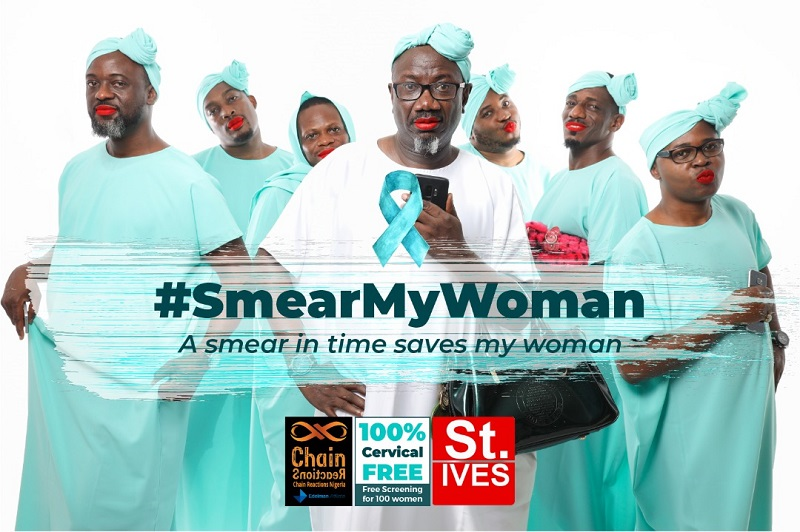 Chain Reactions, St. Ives Partner in #SmearMyWomanCampaign to Fight Cervical Cancer