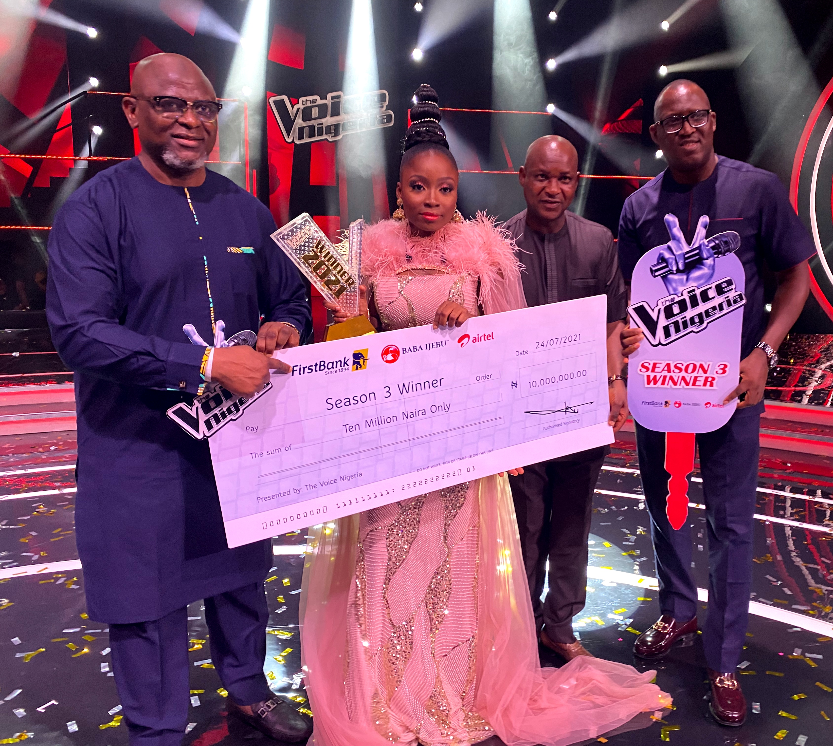 Esther Benyeogo Emerges as the Winner of the Voice Nige -Freshangle News