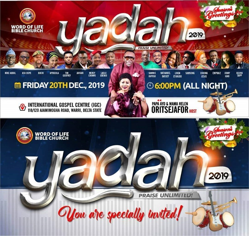 Buchi, Samsong, Ekiye, Okposo, others, storm Warri for Night of Gospel Music Explosion