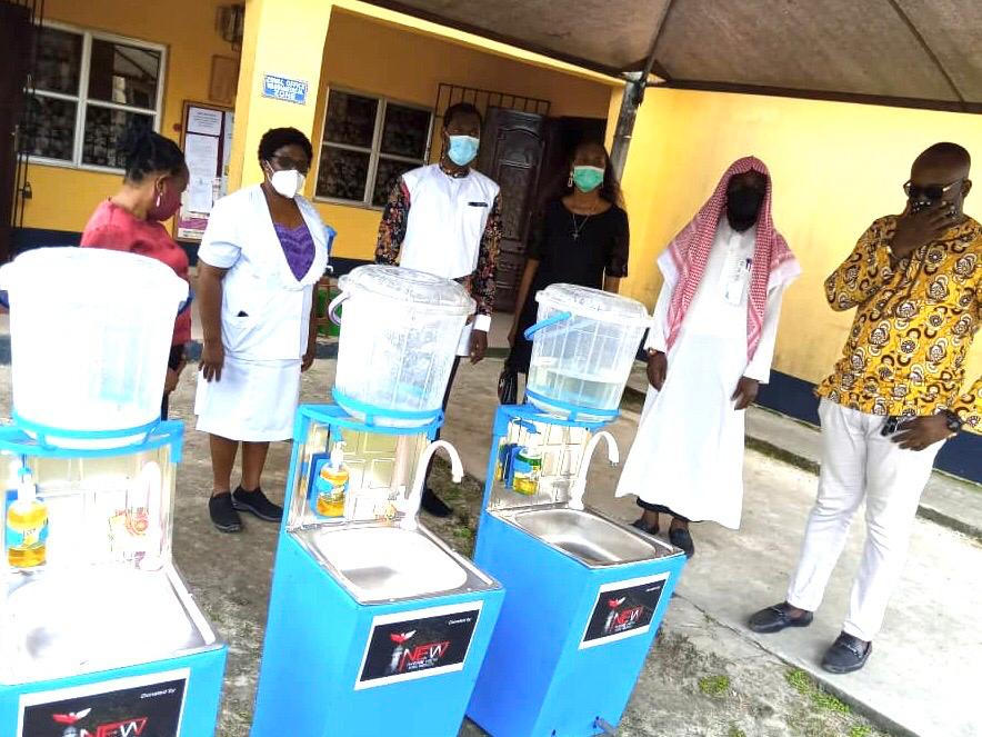 INEW donates Hand - Washing Machines to Central Hospital, Warri