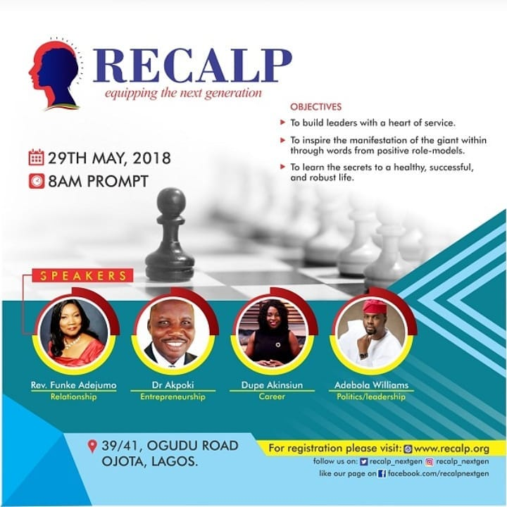 Over 2000 Youths to Converge at RECALP Summit 2018