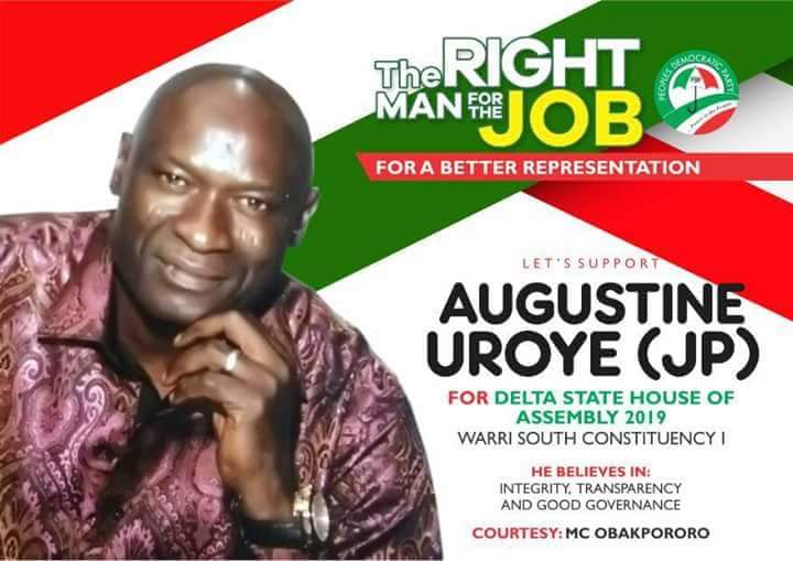 Breaking: Uroye wins Warri South Constituency 1 PDP ticket