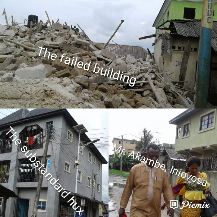 Two- Story building under construction collapses in Warri, 24-year old escapes death