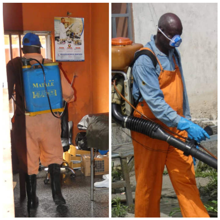 Just In : Warri South Council decontaminates building accommodating Gifted Hands Clinic and Maternity