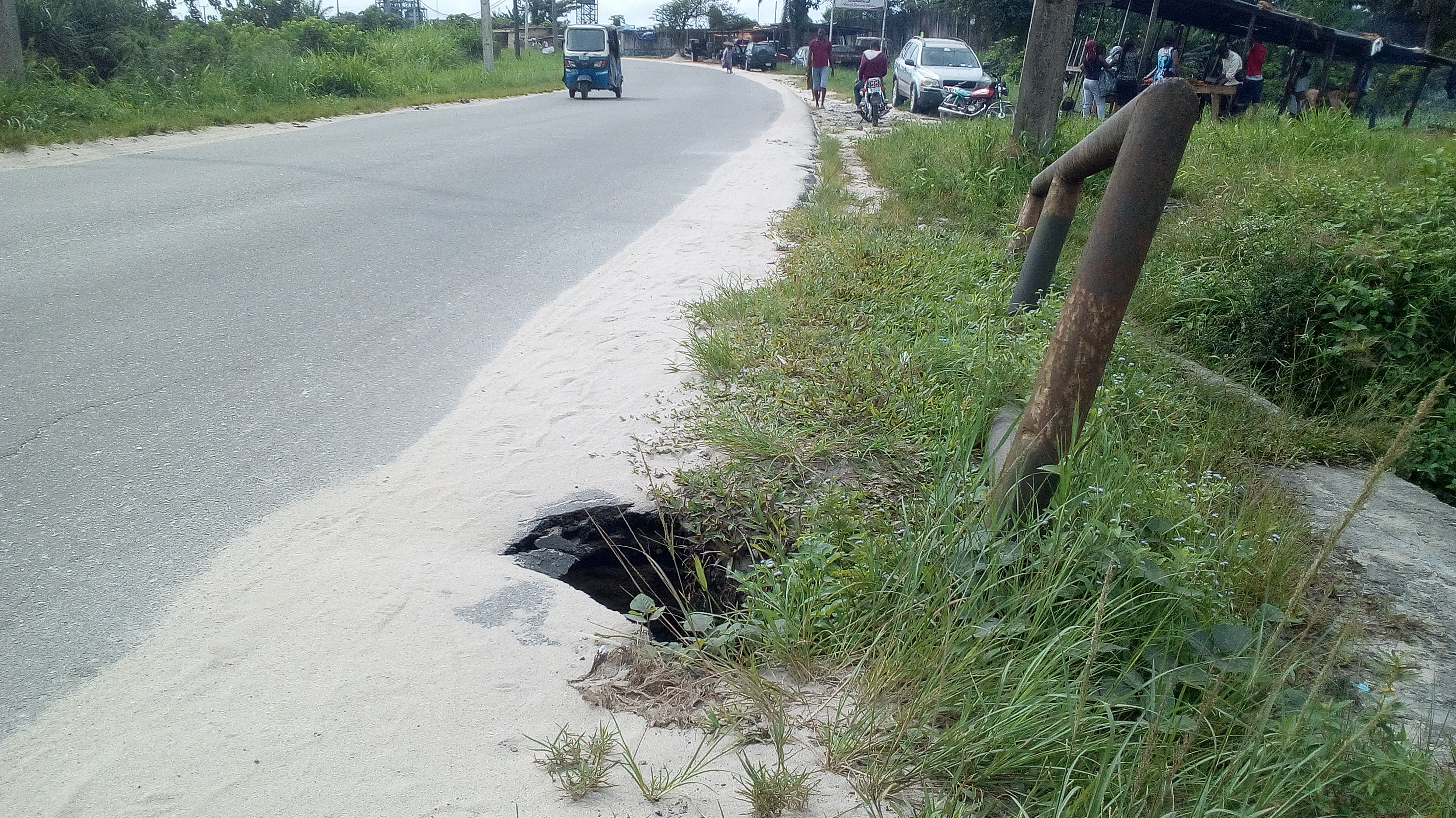Danger imminent as Delta Community bridge caves in