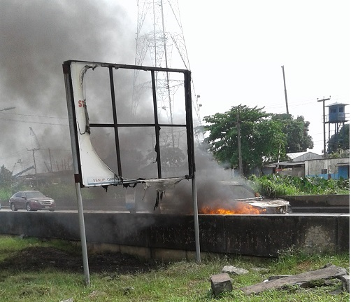 Man escapes death as his jeep explodes