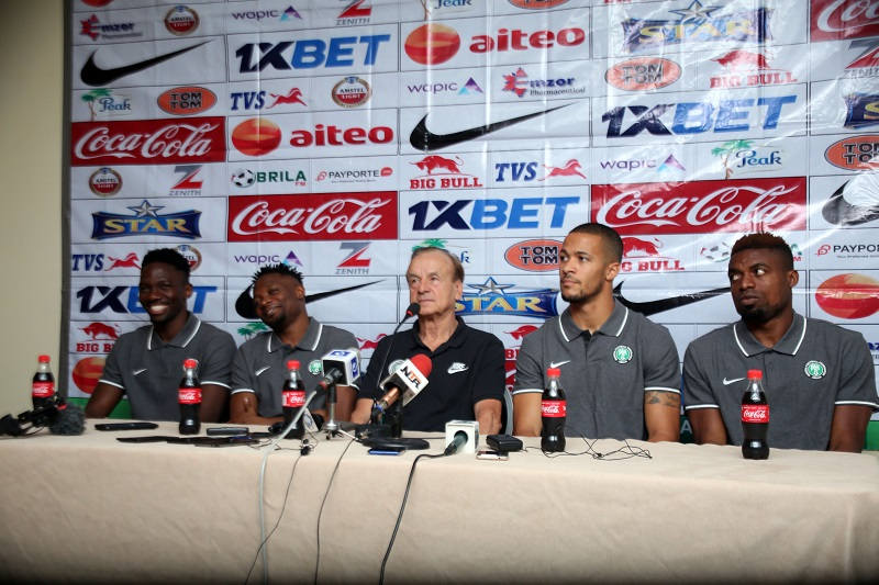 Photos from Super Eagles presser ahead clash with Benin Republic