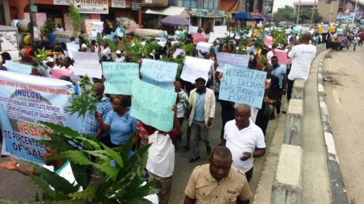 PHOTO NEWS: NULGE protest live at Effurun