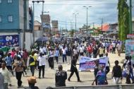 Unpaid Salaries: NULGE intensifies anti Okowa protests as allocation shrinks