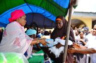 Aregbesola's wife donates gifts received during Governor's 60th birthday to women